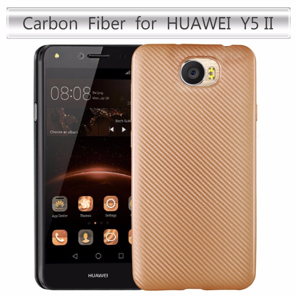 Nytt mjukt skal för kolfiber för Huawei Y5 2 / Huawei Y5 II Lte - Reservdelar och tillbehör för mobiltelefoner