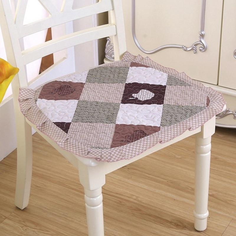 Floral Chair Cushion Breathable Pillow For Kitchen Decor Thickened Decorative Elegant Sofa Cushions Anti Slip Chair Pad