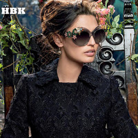 Fashion New 2016 Brand Luxury Sunglasses Statement Women Jewelry Sun Glasses Flower Decoration Vintage Shades Gafas