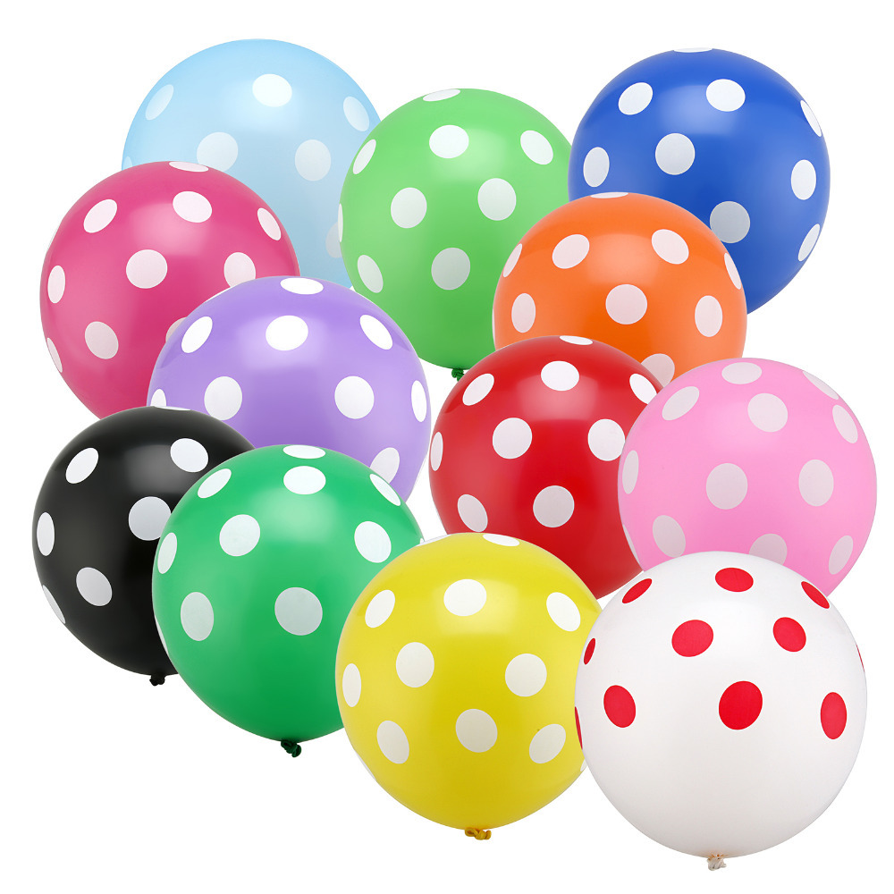 100pc 12 inch Latex Polka Dots Balloons Wedding Birthday Balloons Decoration Glo