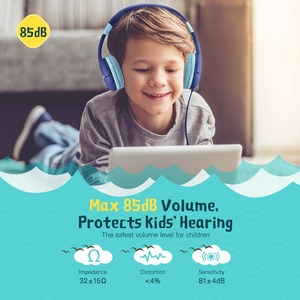 Image 2 - Mpow New Cute Wired Kids Headphones With Microphone Over Ear Hearing Protection Volume Limited Headphones For Kids Girls Boys