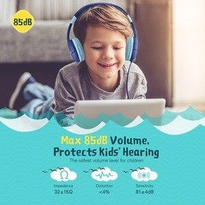 Image 2 - Mpow 새로운 귀여운 유선 아이 헤드폰 귀에 청력 보호 볼륨 제한 헤드폰 아이 소녀 소년