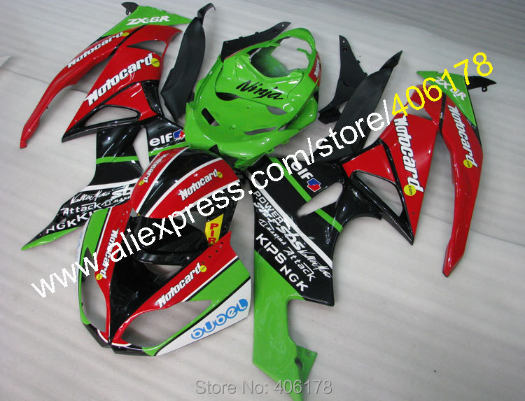 Hot Sales,For Kawasaki NINJA kit ZX6R 09 10 11 12 ZX 6R 636 ZX636 2009-2012 ZX-6R Motorcycle fairings Parts (Injection molding)