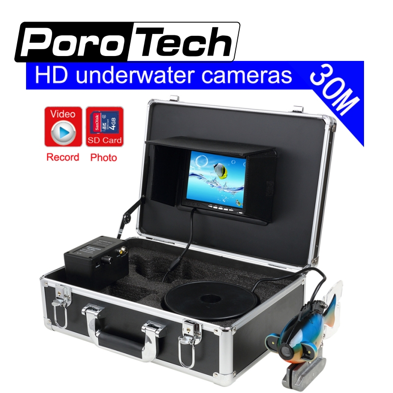 SY801 30M Depth Sounder Underwater Camera For Fishing 7 LCD Fish Finder DVR Recording Waterproof Fish