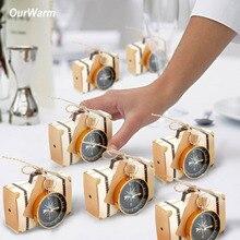 Ourwarm 50 шт. Свадебные сувениры карфт Бумага конфеты подарочная коробка компас с биркой свадебный подарок для гостя сувенир праздник день рождения украшения