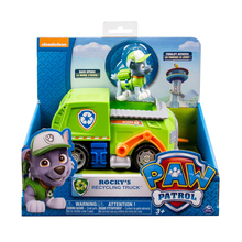 Original Nickelodeon Paw Patrol Rocky's Recycling Truck Spin Master Pup Rescue Vehicle Toy Set Anime Action Figure Toys Kid Gift spin master nickelodeon paw patrol 16721 спасательный ровер маршалла
