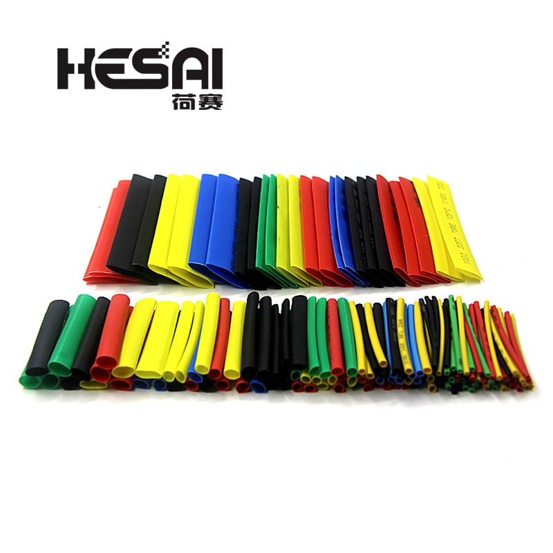 164PCS Heat Shrinkable Tube Polyolefin Casing Cable Tube Kit Mixed Color