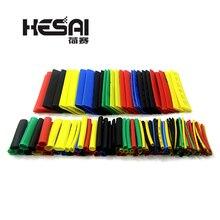 164 pcs 열 수축 튜브 폴리올레핀 케이싱 케이블 튜브 키트 혼합 색상