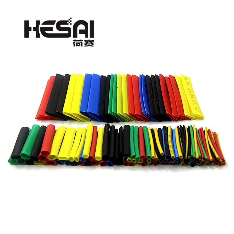 164PCS Heat Shrinkable Tube Polyolefin Casing Cable Tube Kit Mixed Color-in Insulation Materials & Elements from Electronic Components & Supplies