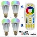 8 w e27 pode ser escurecido lâmpada led 2.4g mi. light lâmpada led rgb sem fio-cct cor da lâmpada do bulbo o controle de temperatura por controle remoto