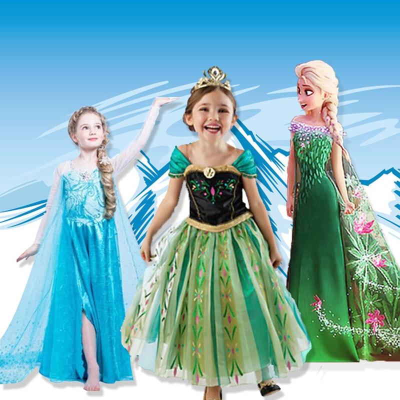 2019 Girls Carnival Dress Kids Cinderella Snow White Cosplay Costume Baby Girl Princess Dress Rapunzel Aurora Belle Dresses