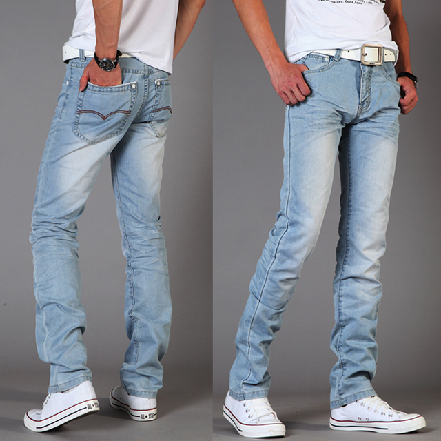 Aliexpress.com : Buy Summer Men's jeans Slim fit pants water wash ...