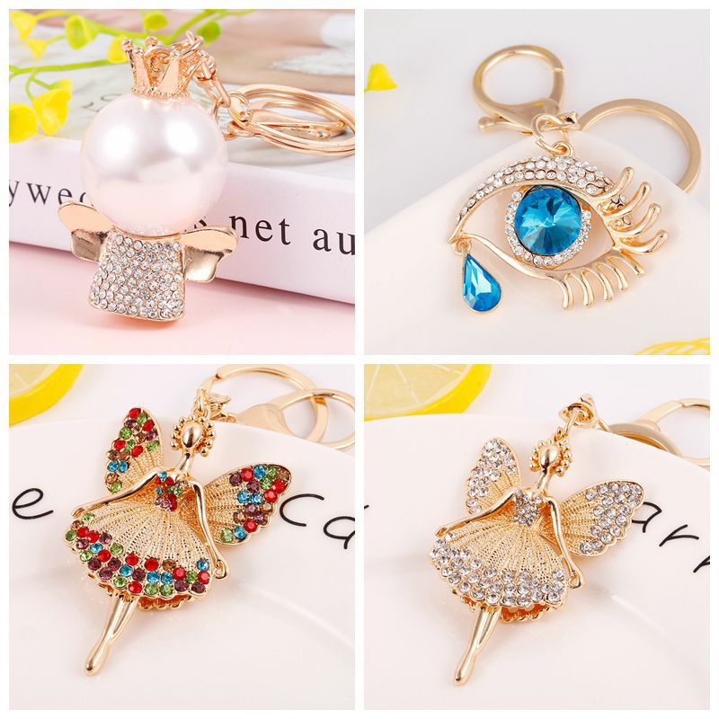Apparel Sewing & Fabric Home & Garden Bright 2pcs/lot Coloured Drill Butterfly Keychain Pendant Lobster Clasp Buckle Diy For Home Use Component Key Button Pendant Ornament Up-To-Date Styling