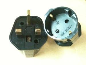 Image 2 - Avrupa 2 Pin İngiltere 3 Pin fiş adaptörü Euro ab Schuko seyahat şebeke adaptörü