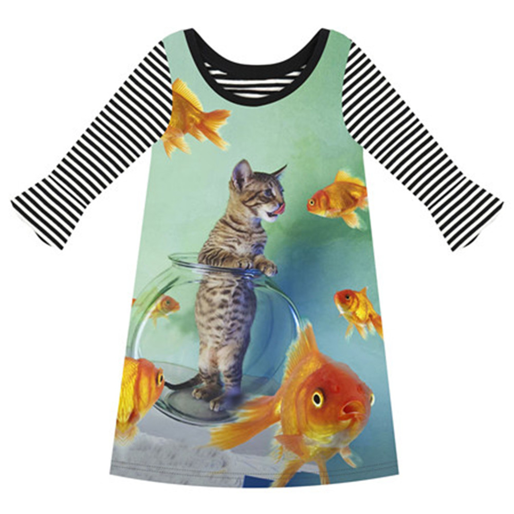 Girl clothing casual kids baby girl three quarter nice for Two fish apparel
