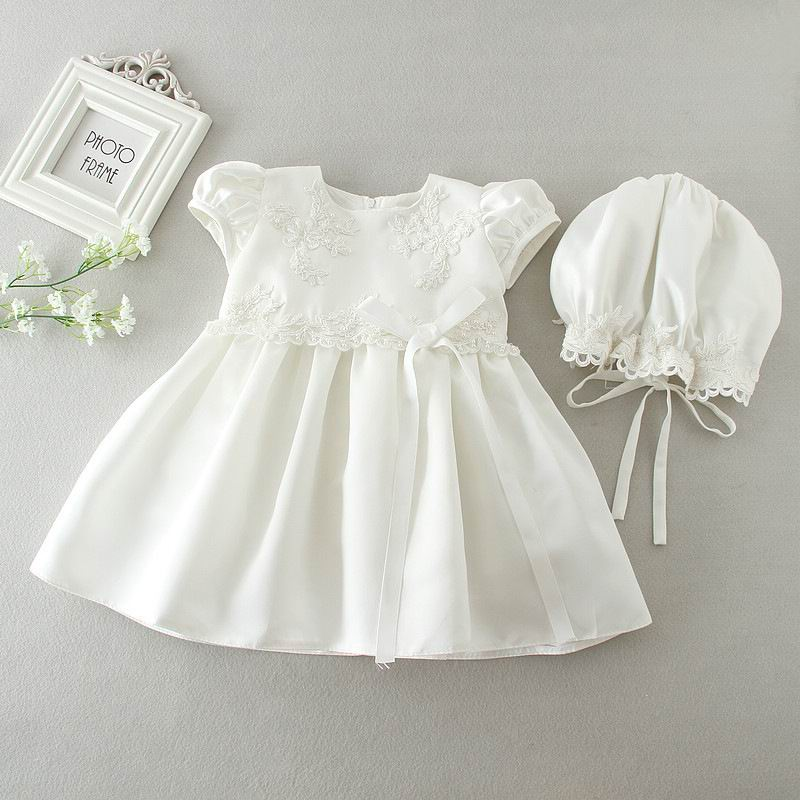 2017 newborn baby girls brithday dress christening gown for Making baptism dress from wedding gown