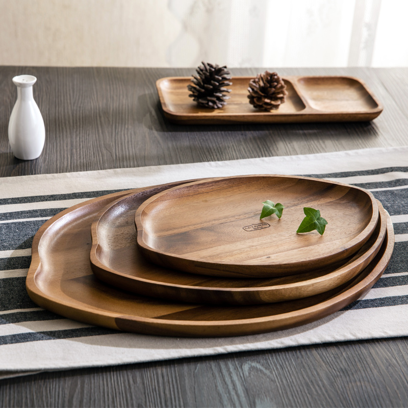 thailand imported western style food tableware wooden plate dish household wooden tray snacks. Black Bedroom Furniture Sets. Home Design Ideas