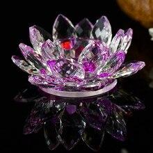 Crystal Glass Lotus Flower Candle Tea Light Holder