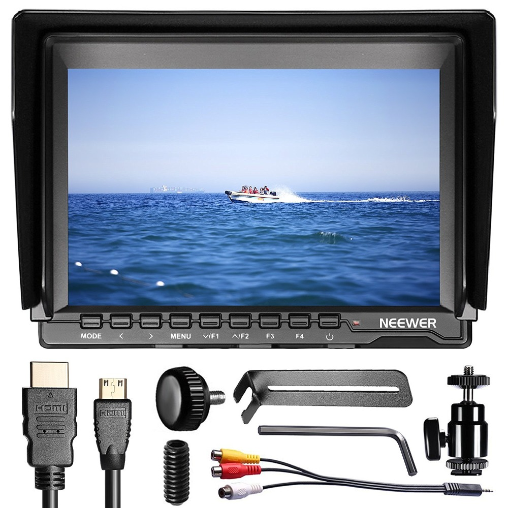 Neewer 7 Inch Ultra HD 1280x800 IPS Screen Camera Field Monitor Support 4K input for Sony/Canon/Nikon/Olympus/Pentax