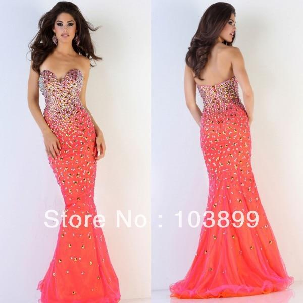 Popular Bright Orange Prom Dresses-Buy Cheap Bright Orange Prom ...