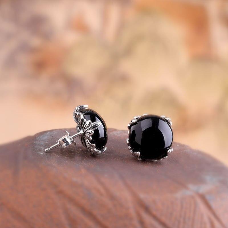 L & P 2019 nouvelle mode véritable argent grenat boucles d'oreilles pour dame Original DeElegance 925 Sterling-argent luxe bijoux fins - 6