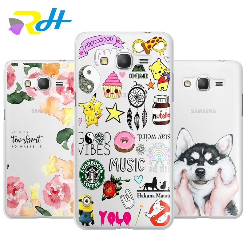 Unique Design Sticker Cute Husky Case series For Coque Samsung Galaxy S6 S7 Edge S8 Plus J1 J5 A3 A5 2016 A520 2017 G530 cover
