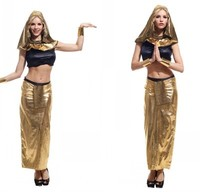 Adult girl Egyptian Cleopatra costume dresses Egyptian Goddess princess costumes for Halloween Purim party belly dance dress