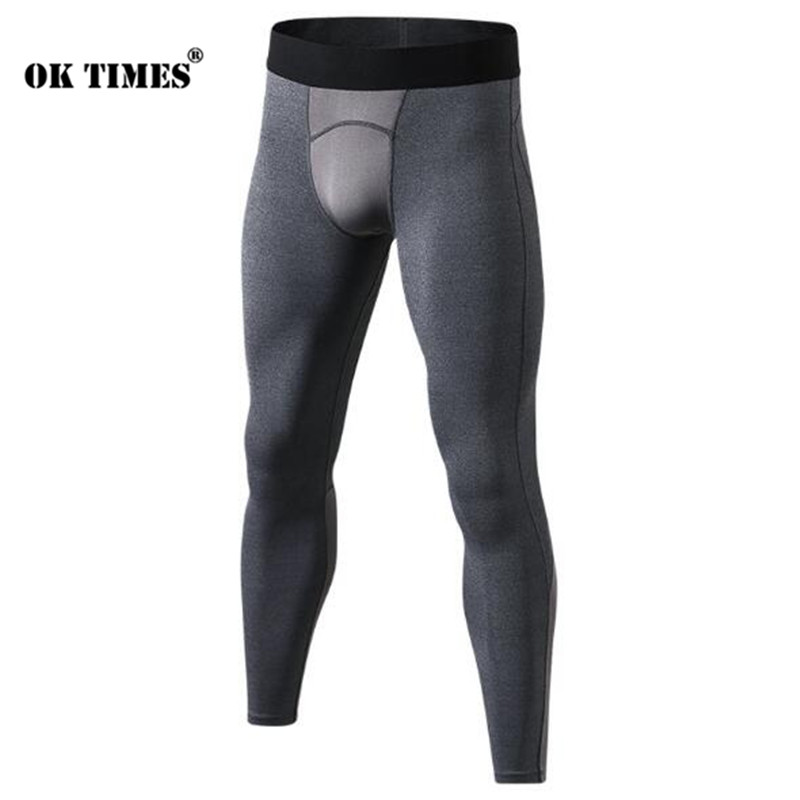 #1040 Winter Fall Men Running Training Fitness Training Gym Sports Compression Sweat Wicking Trousers Tights Pants EU  XS-XXL