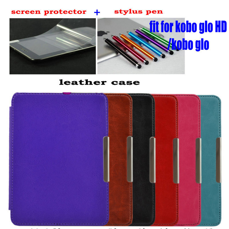 for Kobo Glo HD 2015 Case Flip Leather Smart Cover Case funda for Kobo Glo HD