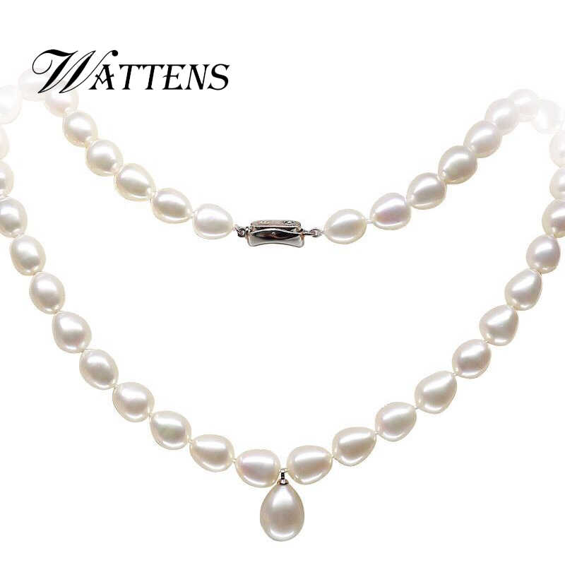 WATTENS nouveau prix incroyable beau collier de bijoux en perles, perles d'eau douce naturelles de haute qualité bijoux de mode pour les femmes