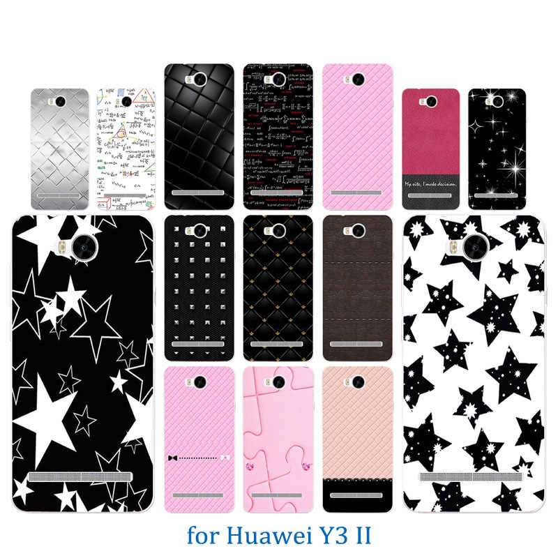 Phone Case for Huawei Y3 II Y3 2 Colorful Pattern Soft TPU Back Cover Silicone for Y3 2/Y3II-U22/ LUA-U22/Lua-L21 Crystal Coque