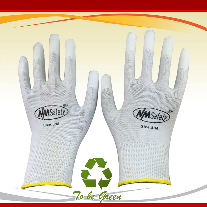 2020 Guantes Trabajo Gloves Nmsafety Anti-static Pu Gloves Anti Static Electronic Industrial Esd Work Finger Gloves