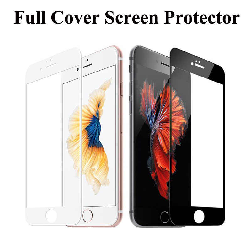 Full Cover Screen Protector Tempered Glass Toughened Protective Explosion Proof for iPhone X XS MAX XR 5 5s se 6 6s 6 7 8 Plus