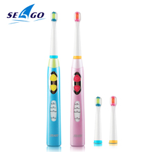 Зубная щетка SEAGO Sonic для детей, водонепроницаемая зубная щетка, электрическая зубная щетка для детей, электрическая зубная щетка для детей EK8