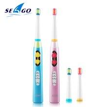 Seago 소닉 칫솔 어린이 방수 브러쉬 치아 전기 치과 브러쉬 3 12 세 어린이 전동 칫솔 ek8