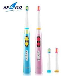 Image 1 - Seago 소닉 칫솔 어린이 방수 브러쉬 치아 전기 치과 브러쉬 3 12 세 어린이 전동 칫솔 ek8