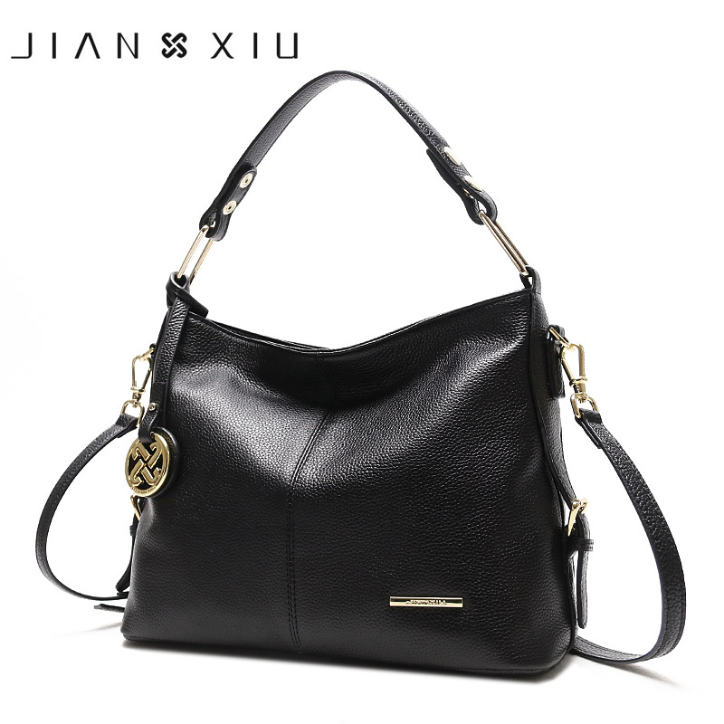 JIANXIU Brand Fashion Genuine Leather Bag Luxury Handbags Women Bags Designer Handbag Sac a Main Newest Shoulder Bag 3 Colors qiaobao luxury women bags designer handbags high quality genuine leather bag famous brand retro shoulder bag rivet sac a main