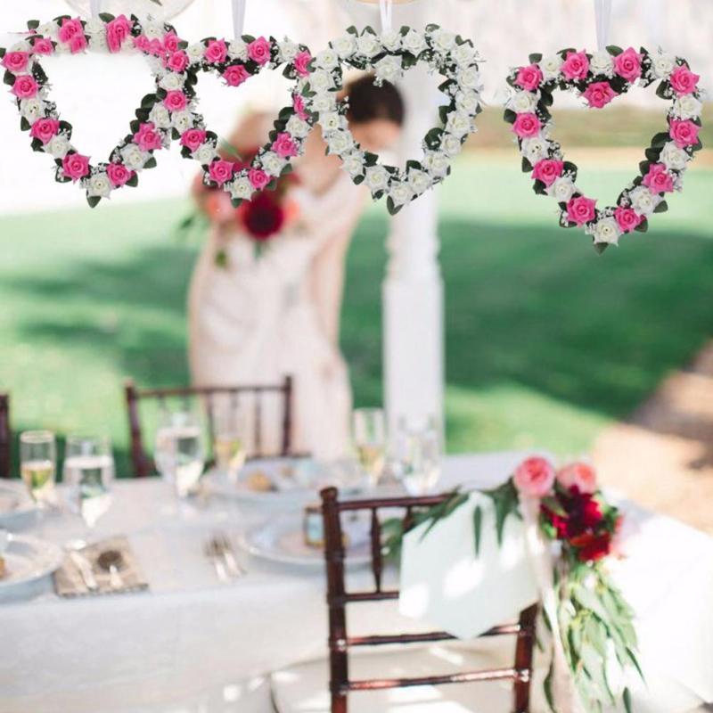 Καρδιά με σχήμα στεφάνι Ρομαντικό - Προϊόντα για τις διακοπές και τα κόμματα - Φωτογραφία 3