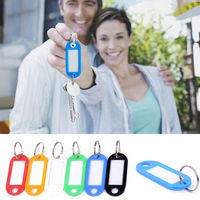 10 Pcs Colorful Plastic Key Fobs Language ID Tags Labels Key Rings Name Tags With Split Ring For Baggage Luggage Tag Travel Travel Accessories