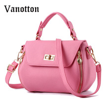 2016 New Arrival Women's Fashion Brand PU Leather Handbag Trend Simple Hasp Small Shoulder Bag Ladies Messenger Bag