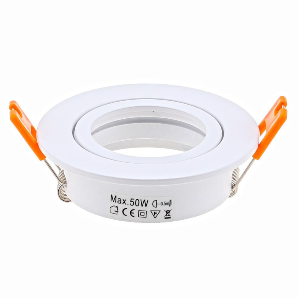 Aluminum Round White LED Downlight Led Spot Light Frame Holders MR16 GU10 GU5.3 Lamp Fittings Led Ceiling Downlight Fixture