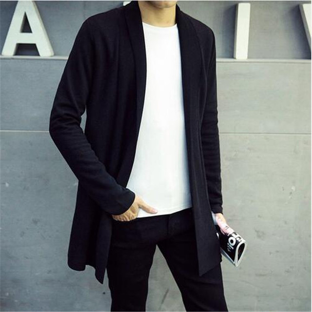 Top 2017 Hot Men's autumn and winter Slim thin sweater coat male ...