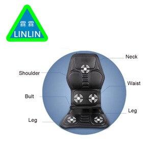Image 5 - LINLIN Car Home Office Full Body Massage Cushion.Heat Vibrate Mattress.Back Neck Massage Chair Massage Relaxation Car Seat 12V
