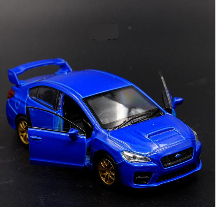 1:36 Scale High Imitation Alloy Model Car, Subaru Impreza WRX STI Metal Car Toy, 2 Open Door Children Toy Vehicle, Free Shipping