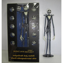 The Nightmare Before Christmas Deluxe Jack Skellington with Interchangeable Heads Action Figure Collectible Model Toy Gift 35cm funko pop jack skellington 15 the nightmare before christmas action vinyl figure colletion model decoration gifts dolls