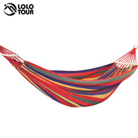 250 150cm 2 People Outdoor Canvas Camping Hammock Bend Wood Stick Steady Hamak Garden Swing Hanging