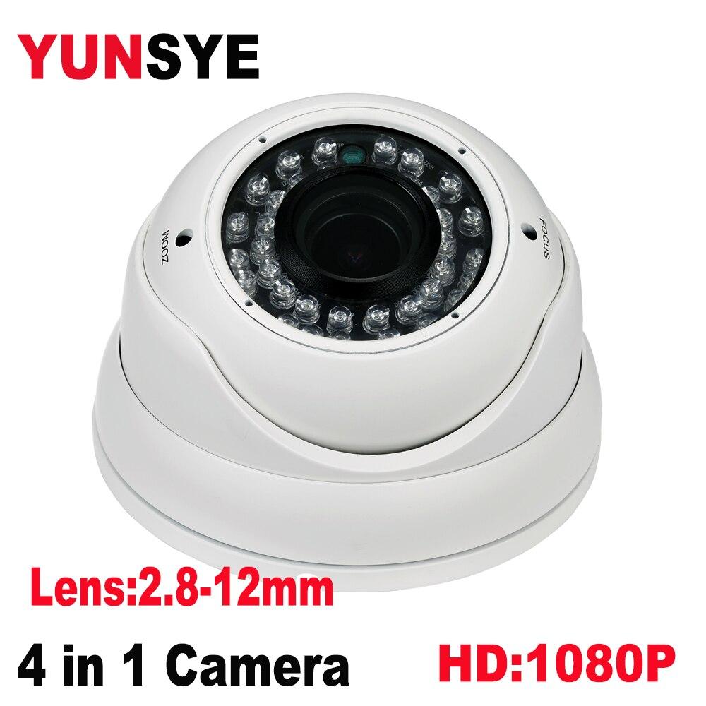 focusing AHD Camera Lens: 2.8-12mm 720P/2MP/4MP/5MP Camera 1080P 36 IR LED Indoor Wired Dome Surveillance Camera IR Cut Filter