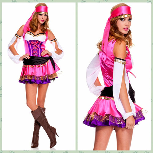 Sexy Fashion Women Gypsies Dance Costumes Halloween Gipsy Uniforms For Adults Cosplay Fancy Dress W-  sc 1 st  AliExpress.com & Sexy Fashion Women Gypsies Dance Costumes Halloween Gipsy Uniforms ...