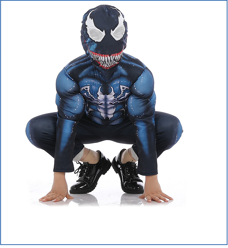 Christmas Venom Spiderman  Children's Cosplay Siamese Tights Muscles Party Party Performance Ball Costumes