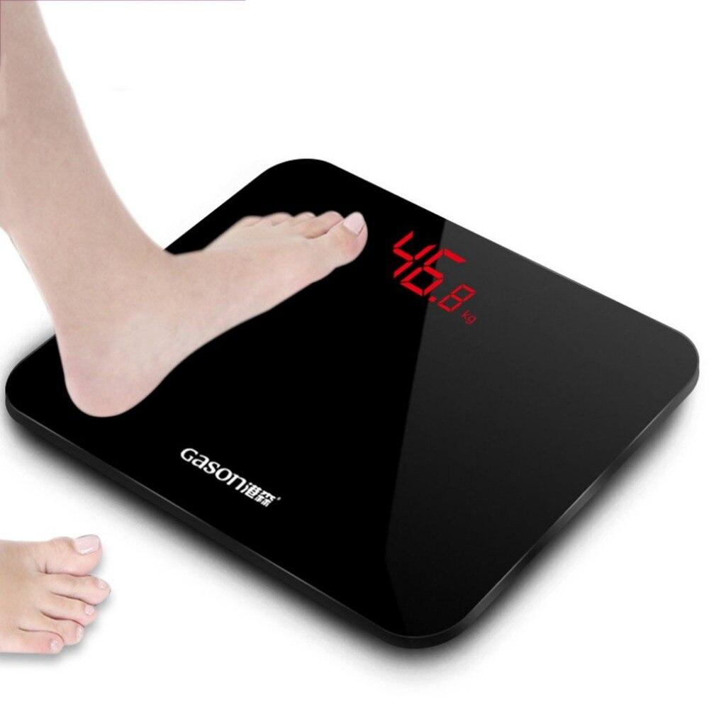 2018 New GASON-A3 Anti-slip Scale Feet Bathroom Floor Scales Smart Electronic Digital LED Display Household Scales Machine gason черный
